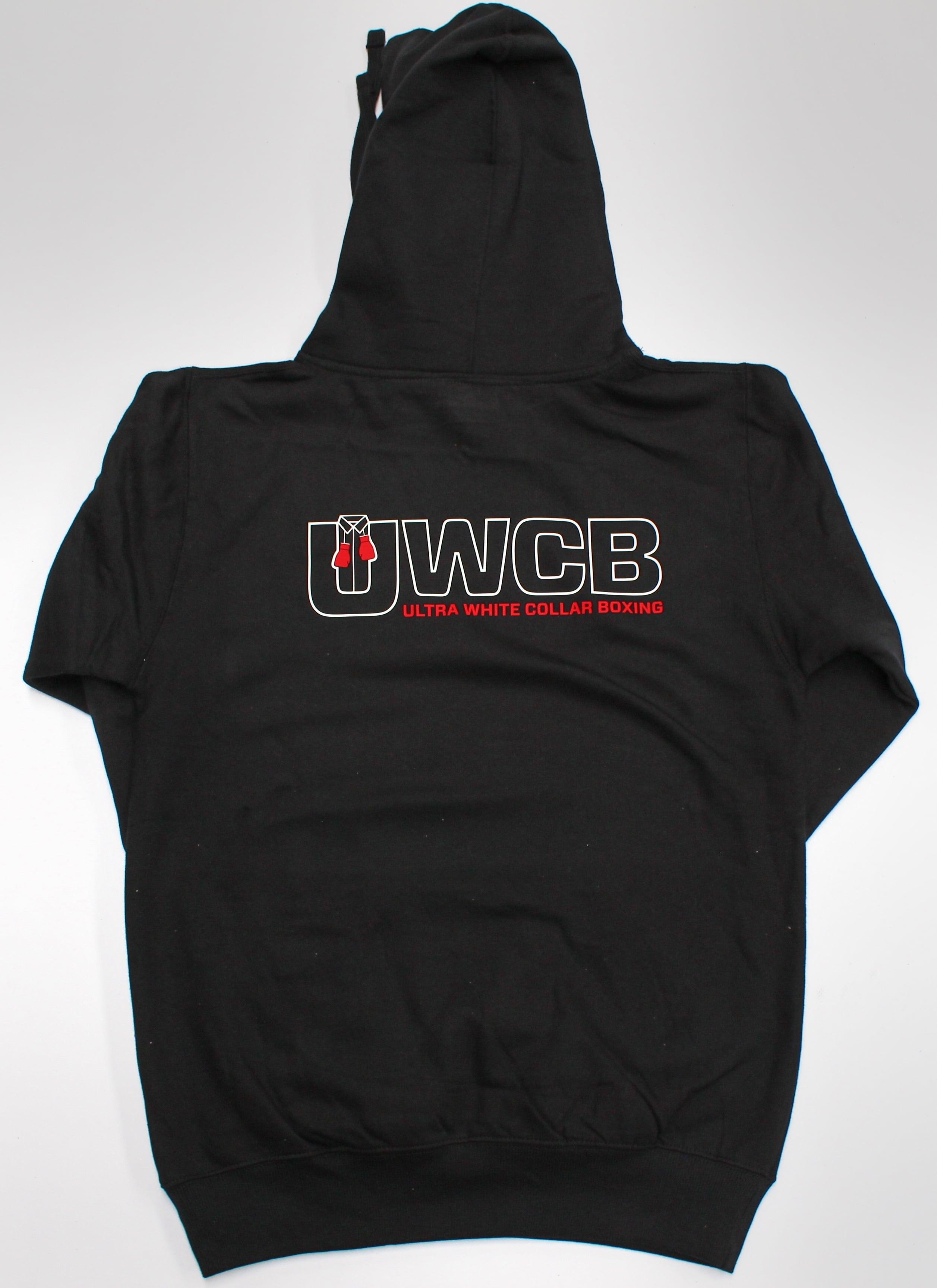 Ultra White Collar Boxing(UWCB) Hoodie - Back